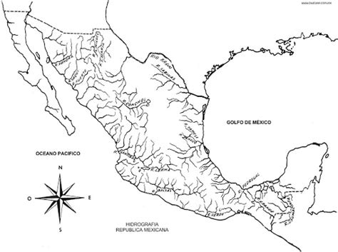 map of the rivers of mexico coloring pages coloring pages