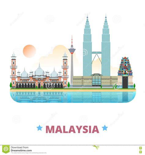 layout artist malaysia malaysia country design template flat cartoon styl stock