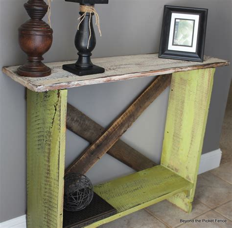 beyond the picket fence green sofa table