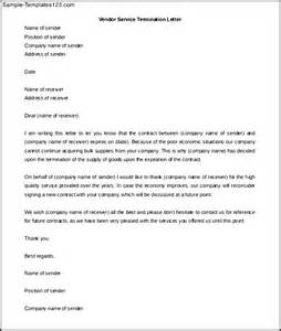 download vendor service termination letter template sample templates