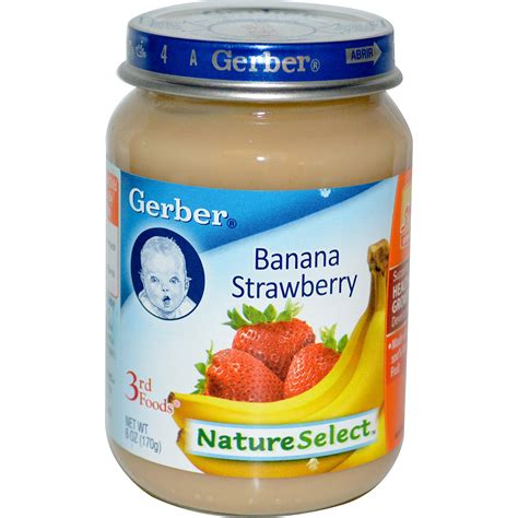 gerber cim gerber 3rd foods natureselect banana strawberry 6 oz 170 g iherb