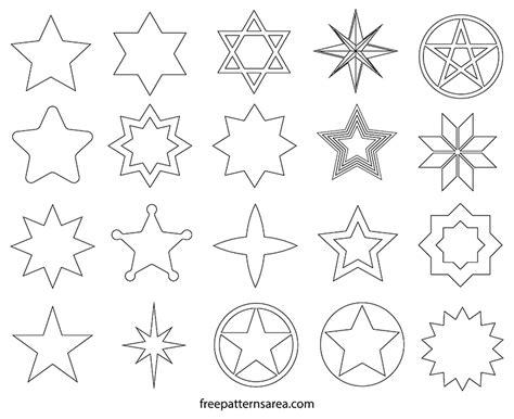 star shape vectors  templates freepatternsarea
