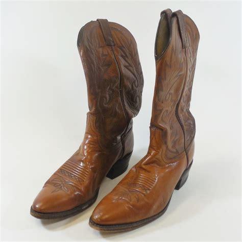 dan post boots vintage dan post cowboy western boots brown leather s