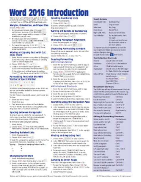 macos high introduction reference guide sheet of tips shortcuts laminated guide books office 2016 sheet reference guide card beezix