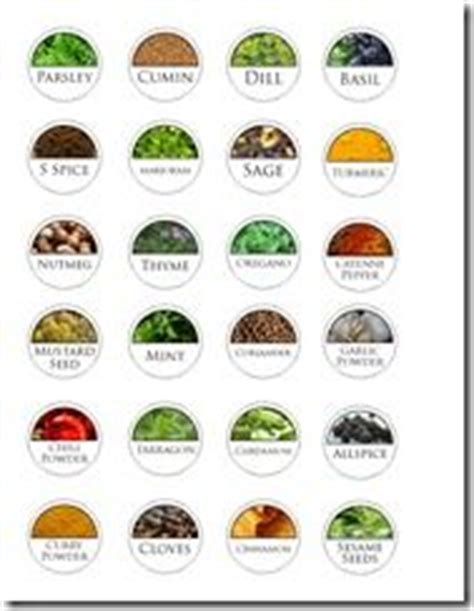 Spice Rack Stickers jars herbs garden and jars on