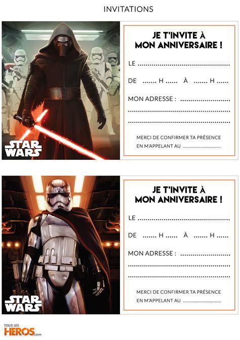Kit Anniversaire Star Wars Pr 233 Parez Un Anniversaire Sur