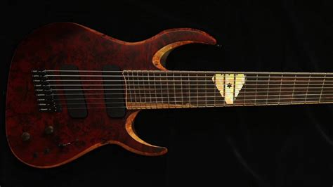 9 string fanned fret waghorn guitars corax w9 fanned fret 9 string guitar