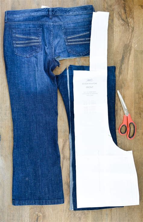 pattern pieces for jeans scoop pinafore pattern review what can you make with four