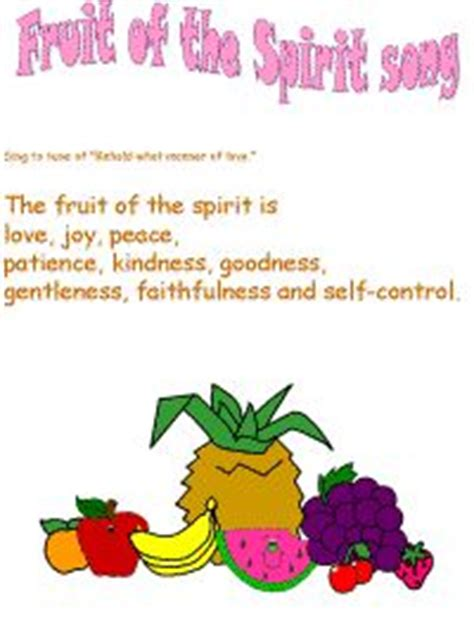 fruit of the spirit song 1000 images about fruit of the spirit vbs on
