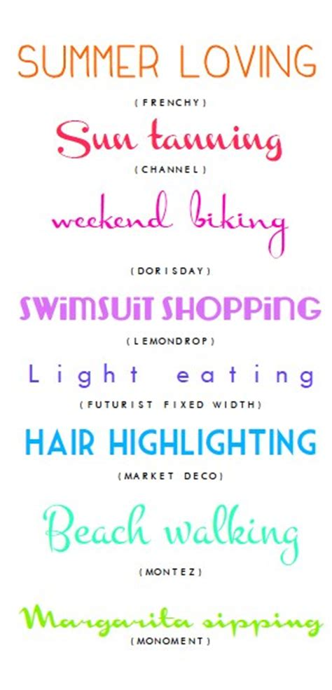 dafont favorites a few of my favorite fonts warm weather edition the hive
