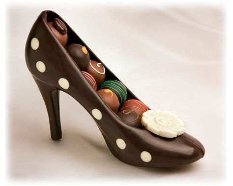 chocolate high heel shoe chocolate high heel fashion