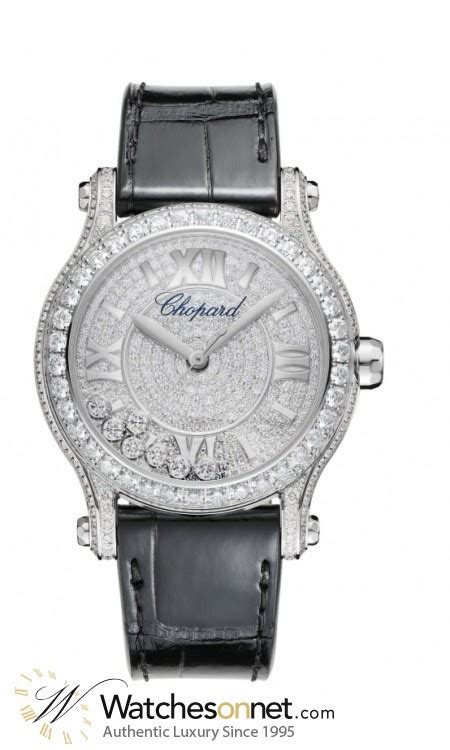 Chopard Number Leather White 1 chopard happy diamonds 274891 1001 s 18k white gold