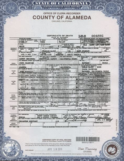 Birth Records Allegheny County Birth Certificate California Alameda County Image