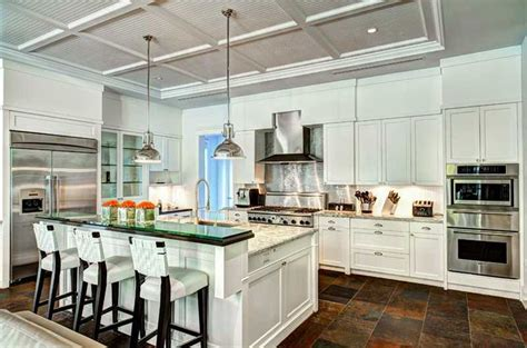 Kitchen Cabinets Light 37 Gorgeous Kitchen Islands With Breakfast Bars Pictures