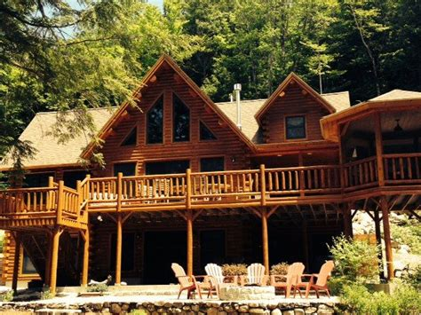 waterfront br private deck access houses for rent in lakefront log home private 4 bedroom homeaway east