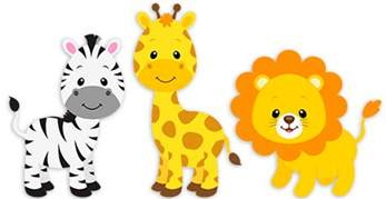 Space Wall Stickers For Kids safari zebra giraffe and lion