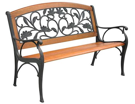 bench cast cast iron garden bench