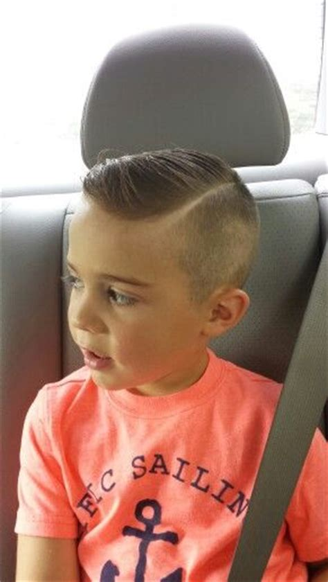 little boy hard part cut hardpart shavedsidepart littleboyhaircut hair