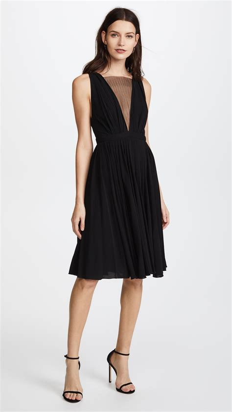 n 176 21 v neck mesh dress in black lyst