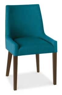 Fabric Dining Chairs Ella Walnut Teal Fabric Scoop Back Dining Chairs