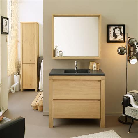 Ensemble meuble vasque   colonne   miroir 1 étagère