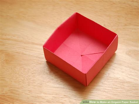 How To Make Paper Flower Basket - how to make an origami paper basket 8 steps with pictures