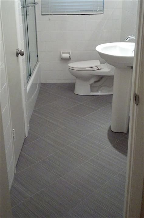 Linen Tile Bathroom 12x12 daltile fabrique unpolished quot gris linen quot porcelain tile bathroom floor with a 6x6 white
