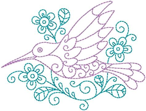 embroidery pattern name hummingbird 8 hand embroidery pattern by stitchx 2 craftsy