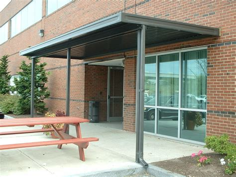 Fixed Canopy Metal Awnings by Fixed Aluminum Awning Canopy Promenade Screen