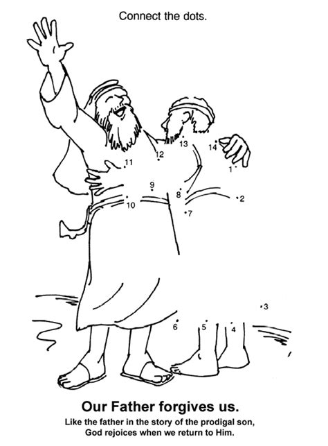 prodigal son dot to dot coloring page
