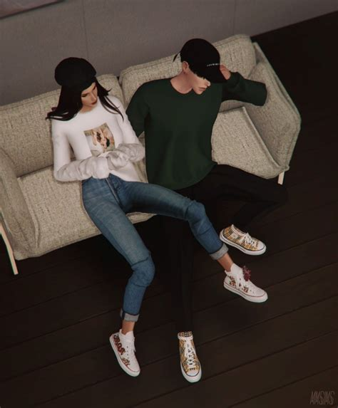 positive sneakers flowers  mmsims sims  updates