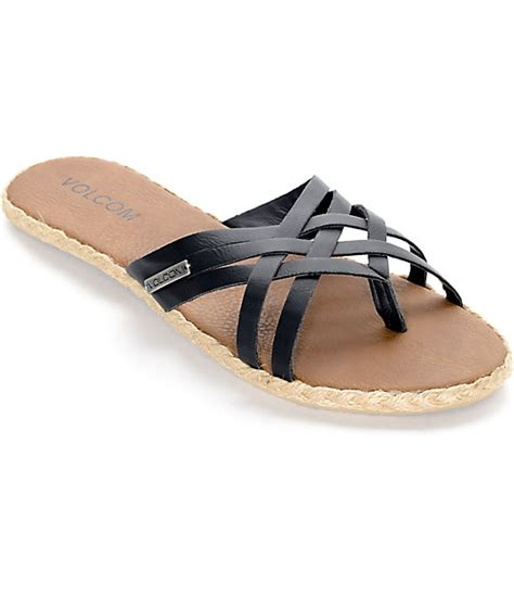 sandals check in volcom check in black sandals