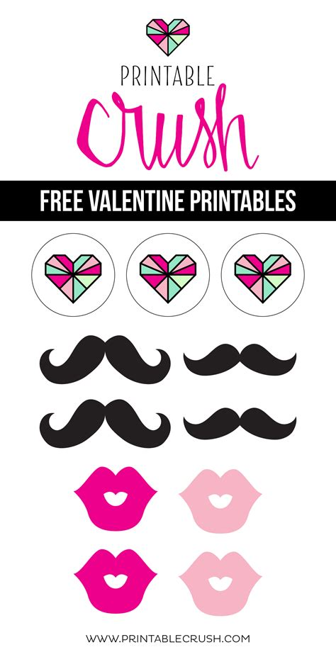 free printable valentine s day photo booth props free valentine printables from printable crush printable