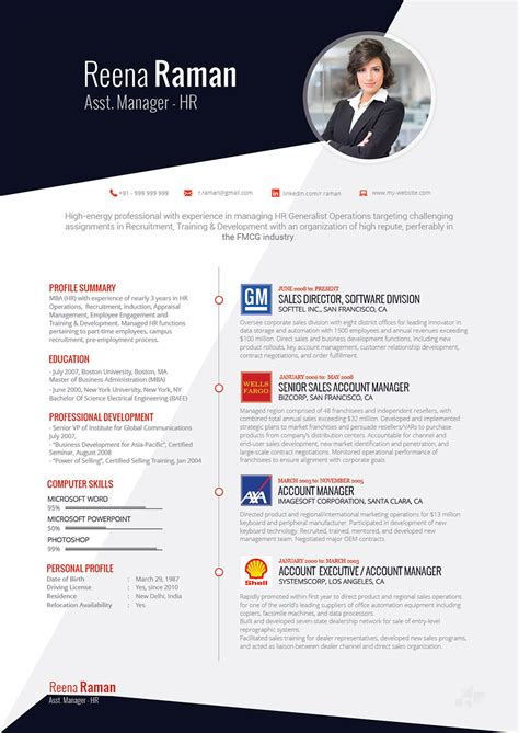 Visual Resume by Visual Resume Combo Services Visual Cv Writing With