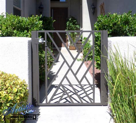 Modern Wrought Iron Gates And Fences Wrought Iron Gates Modern Entry Las Vegas By