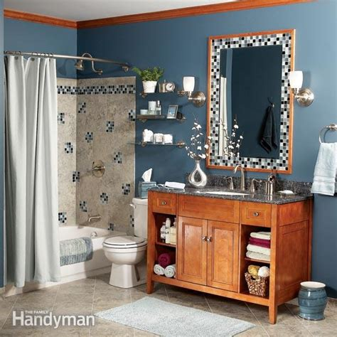 diy bathroom remodel book bathroom makeover on a budget the family handyman