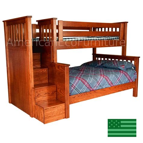 amish bunk beds bunk bed with stairs plans woodworking exterior wood