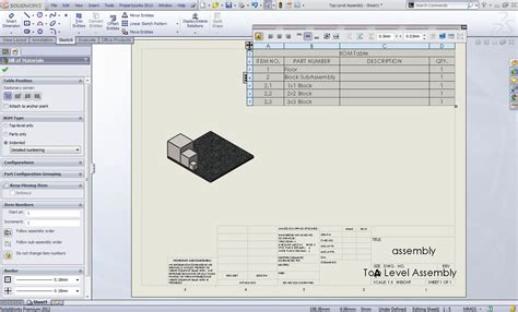 solidworks tutorial indent dissolving subassemblies for indented bom