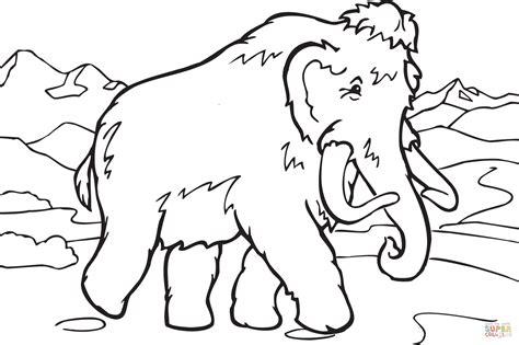 tutorial gambar dinosaurus walking mammoth coloring page free printable coloring pages