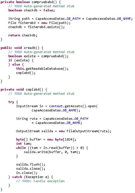 base de conocimientos como introducir el codigo de aprendiendo android copiar base de datos desde la carpeta