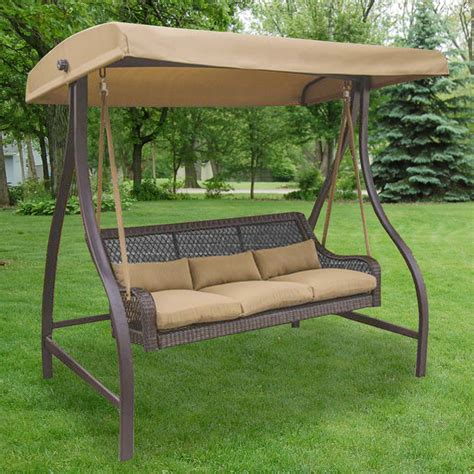 sunbrella woven patio swing menards replacement swing canopy garden winds