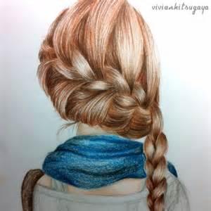 pencil drawing of hair styles of صور رسومات ملونه رسومات بنات صور مرسومه