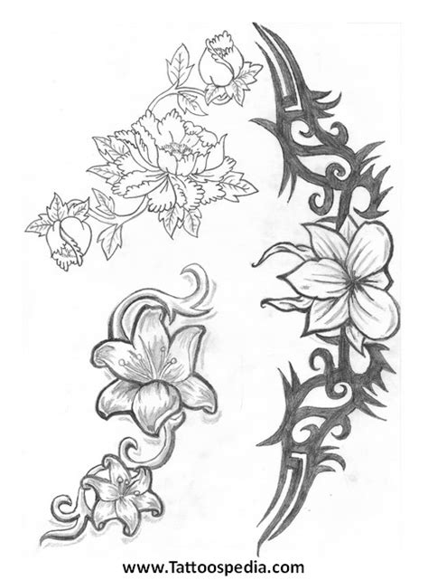 tattoo font design jasmine flower flower drawing flower tattoos 2
