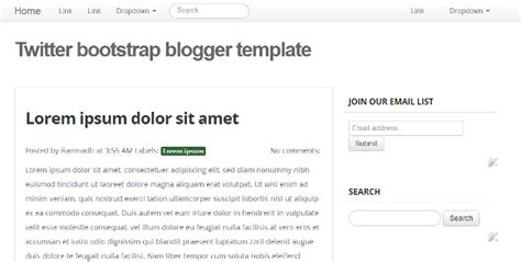 twitter bootstrap layout templates basic twitter bootstrap blogger template