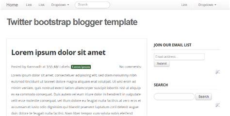 basic twitter bootstrap blogger template