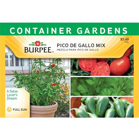 container gardening seeds burpee pico de gallo mix container garden seed 69407 the