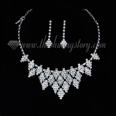 Chandelier Beads Wholesale Wedding Bridal Prom Rhinestone Chandelier Necklaces And