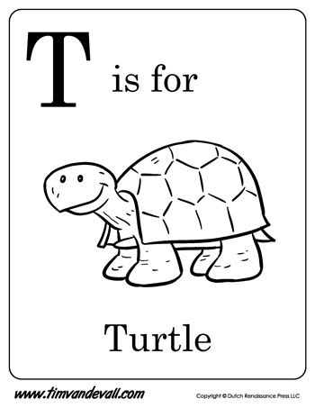 T Is For Turtle Letter T Coloring Page Pdf Letter T Coloring Page Pdf