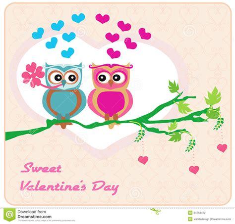 owl lovers owls in love sweet card design vector illustration