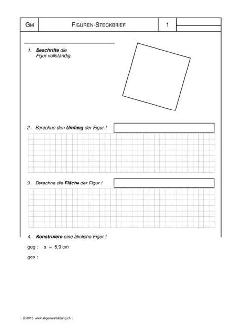 quadrat figuren steckbrief gratis mathematikgeometrie